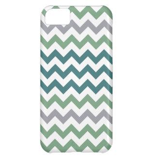 Green & Teals Chevron Pattern iPhone 5 iPhone 5C Case