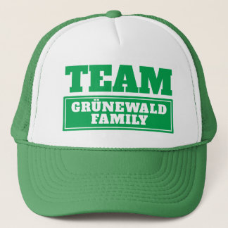 Green team personalized team name or family name trucker hat