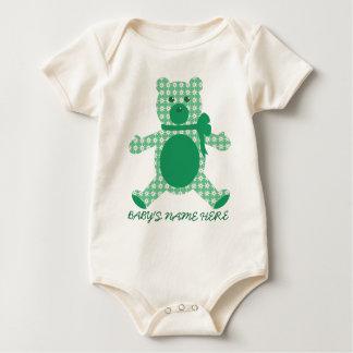 Green Teddy Baby Bodysuit