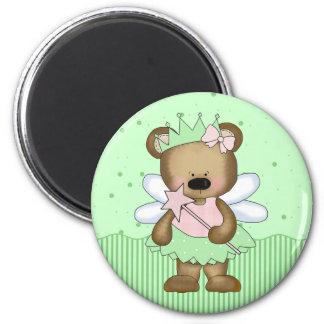 Green Teddy Bear Fairy Princess Magnet