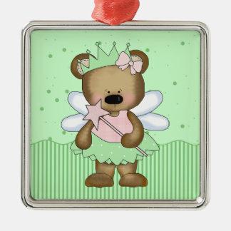 Green Teddy Bear Fairy Princess Ornament