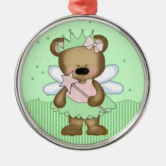 Green Teddy Bear Fairy Princess Ornaments