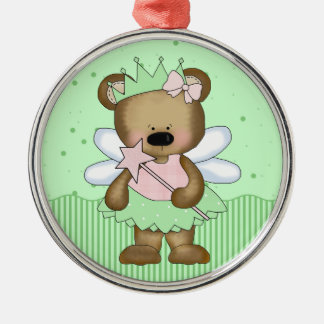 Green Teddy Bear Fairy Princess Ornaments Ornaments