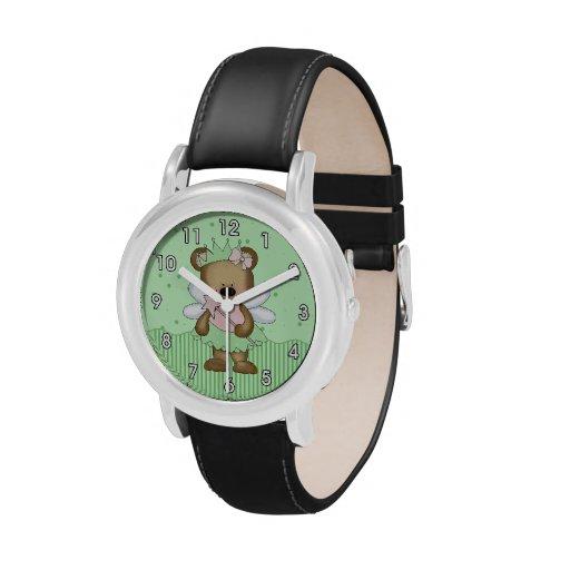 Green Teddy Bear Fairy Wrist Watch