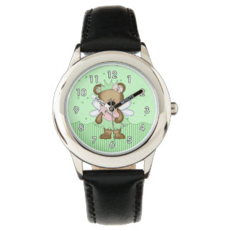 Green Teddy Bear Fairy Wrist Watches