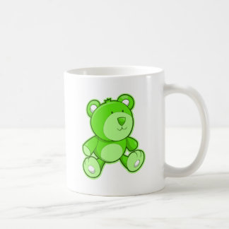 Green Teddy Bear Coffee Mugs