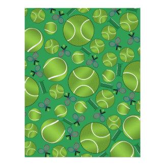 Green tennis balls rackets and nets flyers