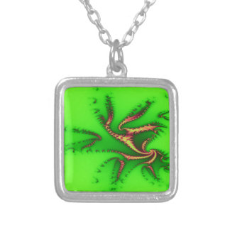 Green tentacles of joy necklaces