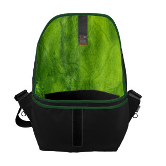 Green Textured Courier Bag