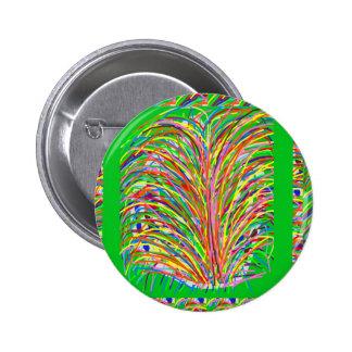 GREEN Theme Artistic Grass Bush Colorful Spectrum Pin