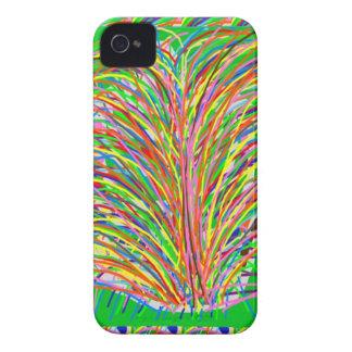 GREEN Theme Artistic Grass Bush Colorful Spectrum iPhone 4 Cover