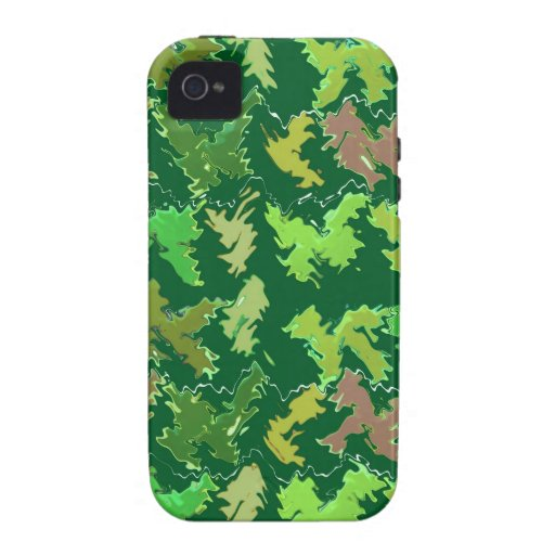Green Theme : Military Camouflage Wave Pattern iPhone 4 Covers