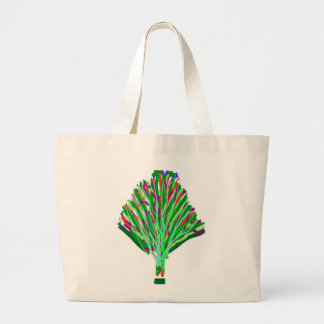 GREEN theme TREE artistic symbol environment cause Canvas Bag