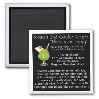 Green Thing Recipe Square Magnet