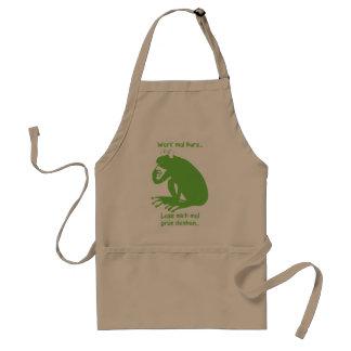 Green thinking standard apron