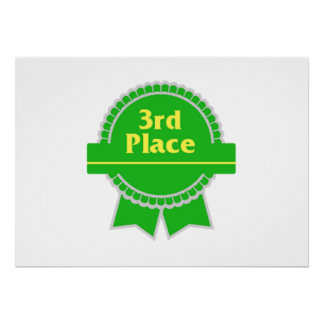 Green Third Place Ribbon Posters