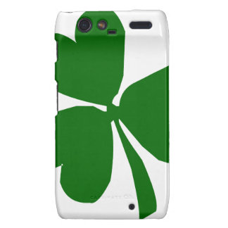 Green Three Leaf Clover Droid RAZR Cover