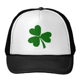 Green Three Leaf Clover Mesh Hat