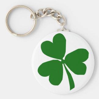 Green Three Leaf Clover Keychains