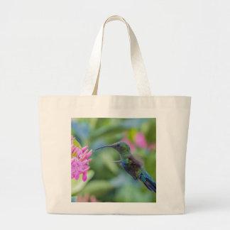 Green Throated Carib Hummingbird Tote Jumbo Tote Bag