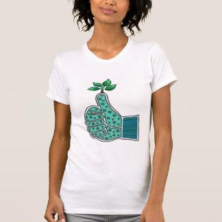 Green Thumb Gardening Glove Tee Shirt