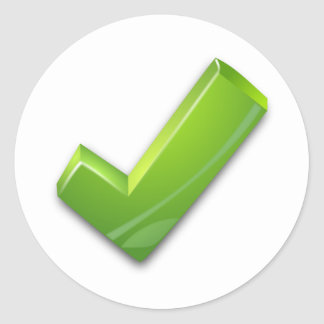 Green Tick Sticker