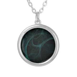 Green Tick Tock Round Pendant Necklace