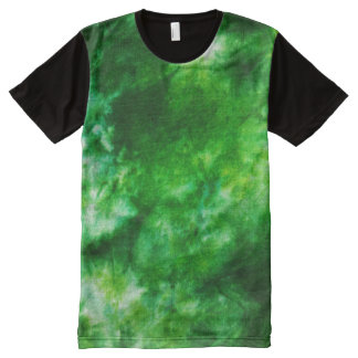 Green Tie Dye All-Over Print T-Shirt