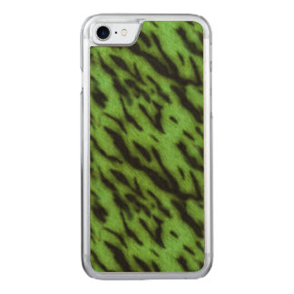 Green Tiger Stripes Carved iPhone 8/7 Case