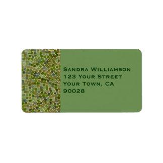 green tile address label