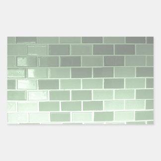 Green Tile Photography Rectangular Sticker