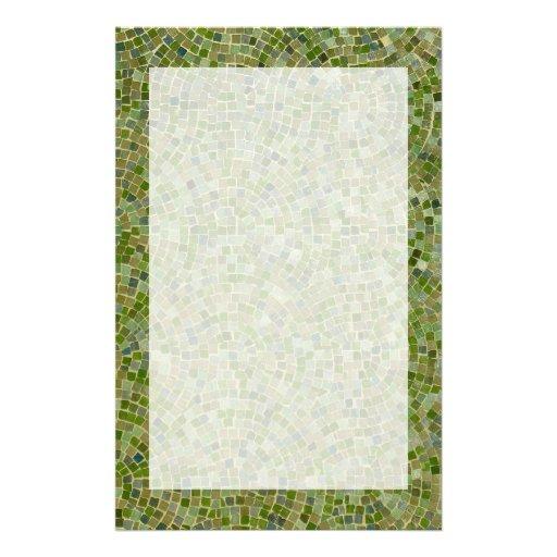 green tiles custom stationery
