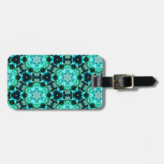 Green Tilly Lace Luggage Tag