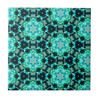 Green Tilly Lace Small Square Tile