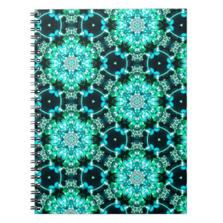 Green Tilly Lace Spiral Notebook