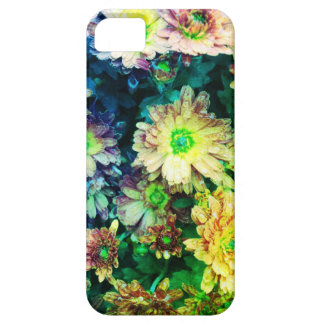 green tinted floral phone case