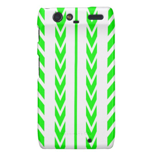 Green Tire Tread Motorola Droid RAZR Covers