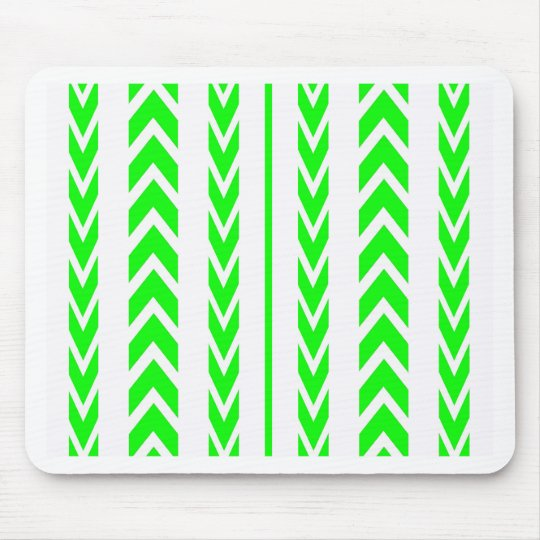 Green Tire Tread Mouse Pad