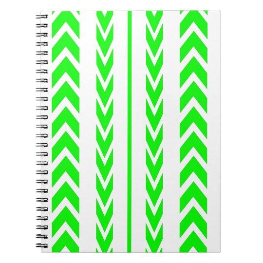 Green Tire Tread Notebook