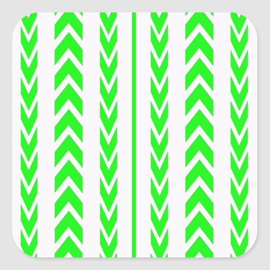 Green Tire Tread Square Sticker
