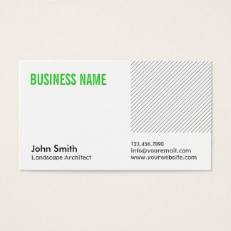 Green Title Landscape Architect Business Card