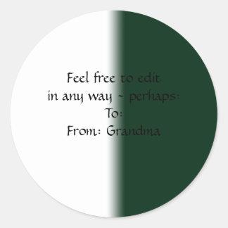 Green to White Fade Sticker