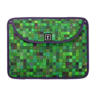 Green tone squares sleeve for MacBook pro
