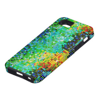 Green Tones Abstract Pixels Bling Bling Pattern iPhone 5 Cases