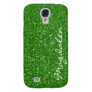 Green Tones Glitter & Sparkles Customized Galaxy S4 Cases