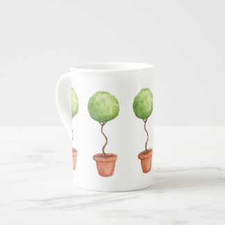 Green Topiary Multiple Tea Cup