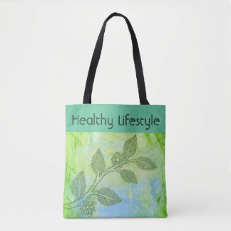 Green tote, Healthy Lifestyle Tote Bag