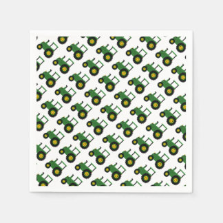 Green Tractor Design Paper Napkins