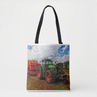 Green Tractor & Grain mixer tote