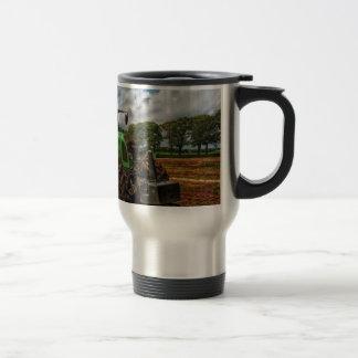 Green Tractor & Grain Mixer travel Mug